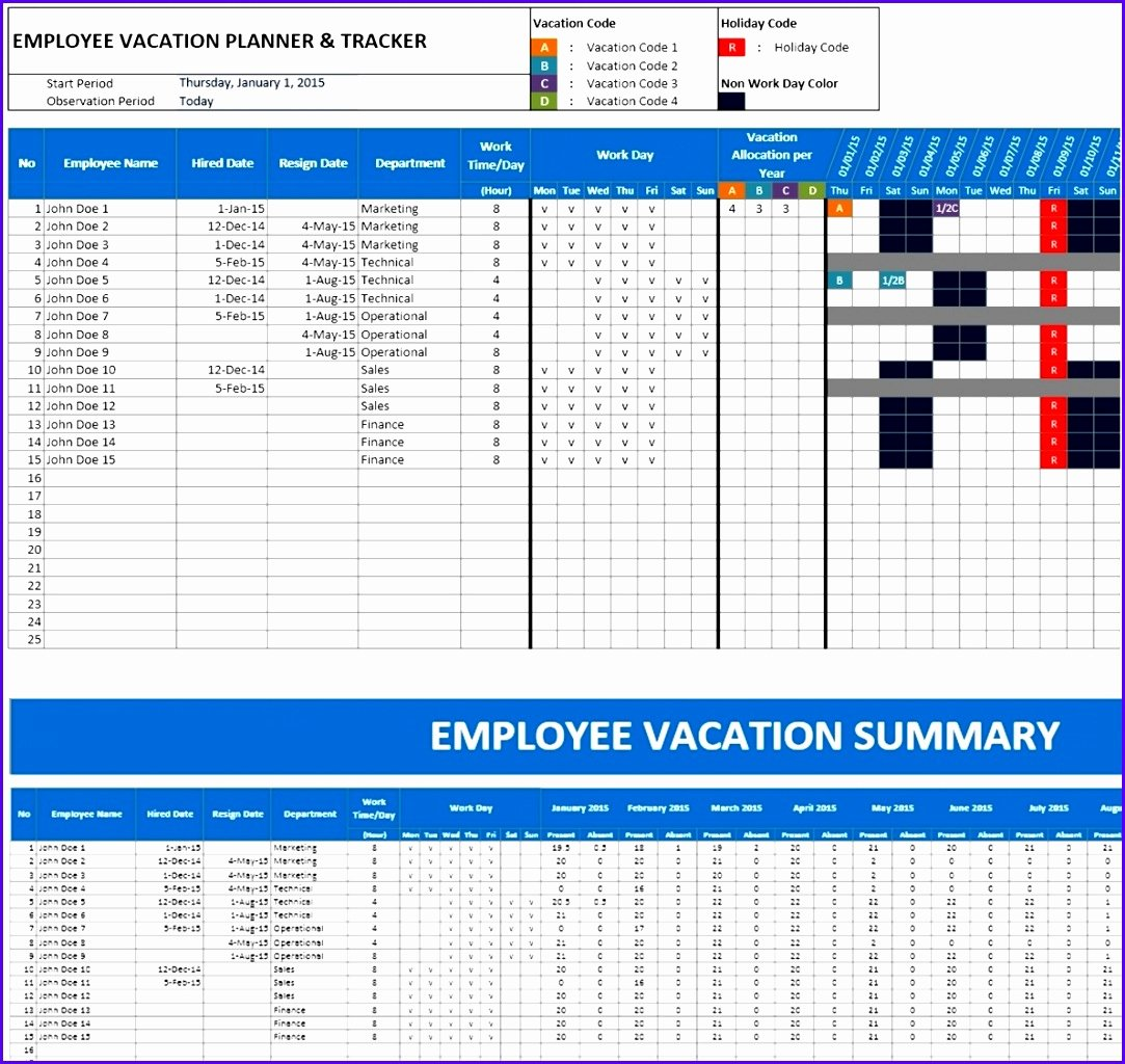 Employee Holiday Schedule Template Awesome 6 Excel Holiday Planner Template Exceltemplates
