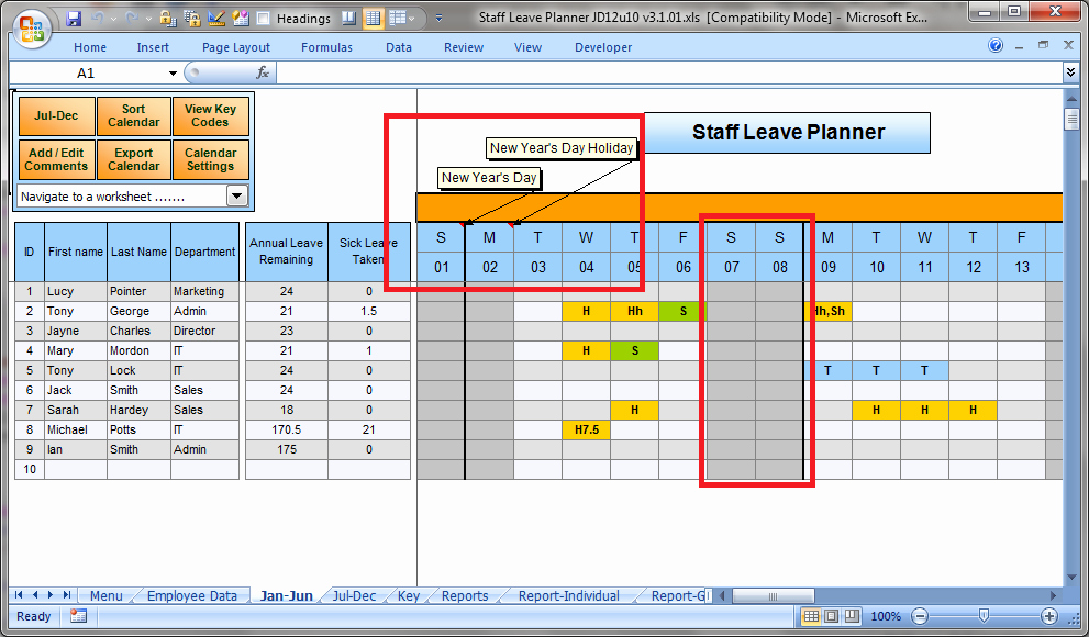 Employee Holiday Schedule Template Best Of Anual Leave Planner Template Manage Staff Leave with This