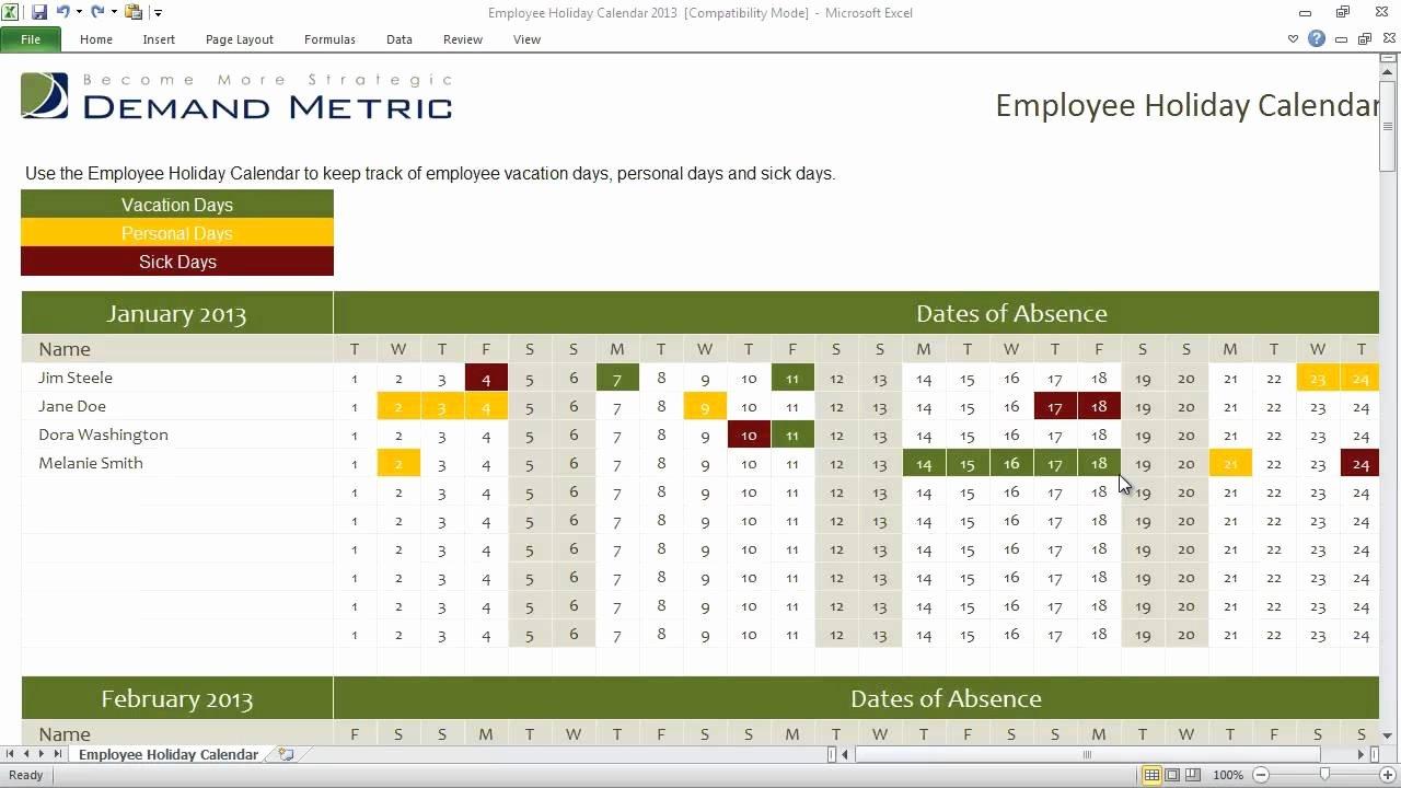 Employee Holiday Schedule Template Fresh Employee Holiday Calendar Template 2013