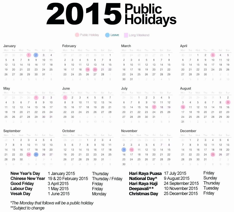 Employee Holiday Schedule Template Fresh Work Holidays Templatecalendar 2015