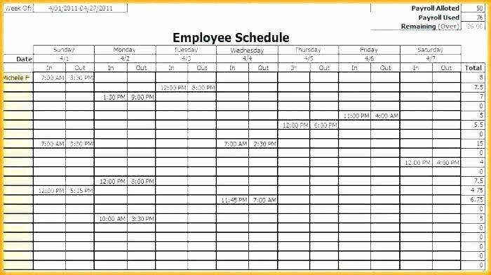 Employee Holiday Schedule Template Inspirational Employee Vacation Calendar Template Printable Employee