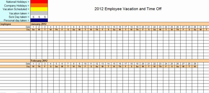 Employee Holiday Schedule Template Luxury the Staff Leave Calendar A Simple Excel Planner to Manage