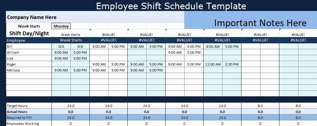Employee Hourly Schedule Template Best Of Employee Shift Schedule Template