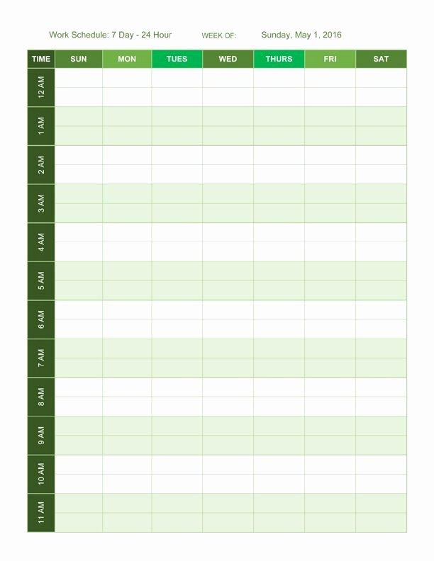 Employee Hourly Schedule Template Elegant 24 Hour Employee Schedule Template