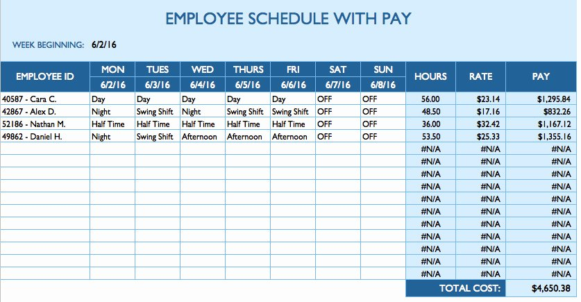 Employee Hourly Schedule Template Inspirational Free Daily Schedule Templates for Excel Smartsheet