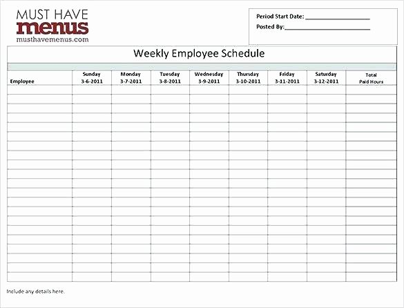 Employee Hourly Schedule Template Inspirational Hour Employee Schedule Template Hour Work Schedule