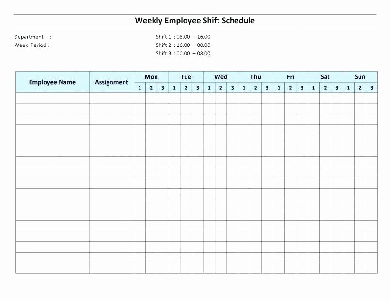 Employee Hourly Schedule Template Unique Printable Weekly Hourly Schedule Blank Schedules Editable