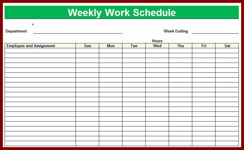 Employee Monthly Schedule Template Beautiful Free Printable Employee Schedule Template
