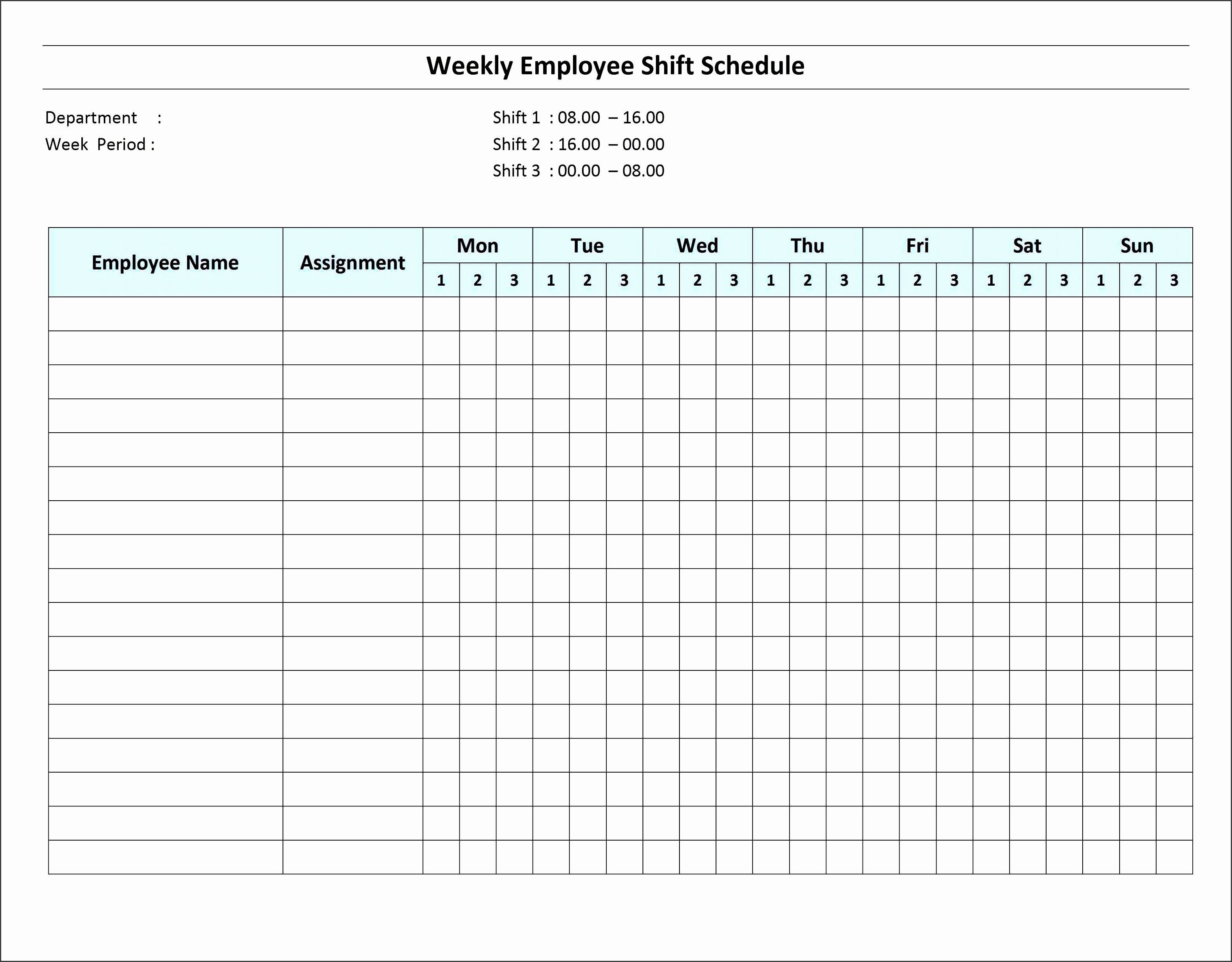 Employee Monthly Schedule Template Lovely 10 How to Create Daily Work Schedule In Excel