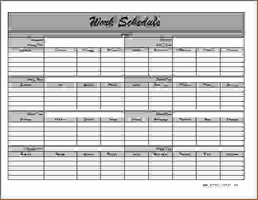 Employee Monthly Schedule Template Lovely 6 Monthly Employee Schedule Template
