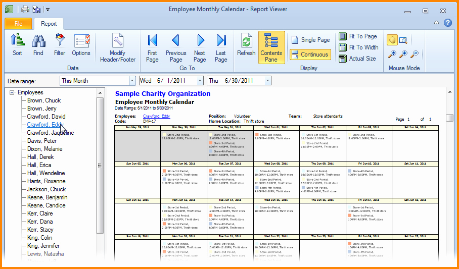 Employee Monthly Schedule Template Unique 7 Monthly Employee Schedule Template