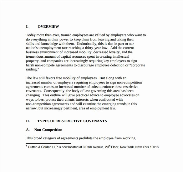 Employee Non Compete Agreement Template Best Of 8 Sample Non Pete Agreements – Pdf Doc