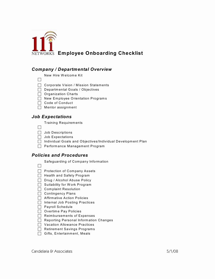 Employee Onboarding Checklist Template Fresh Employee Boarding Checklist