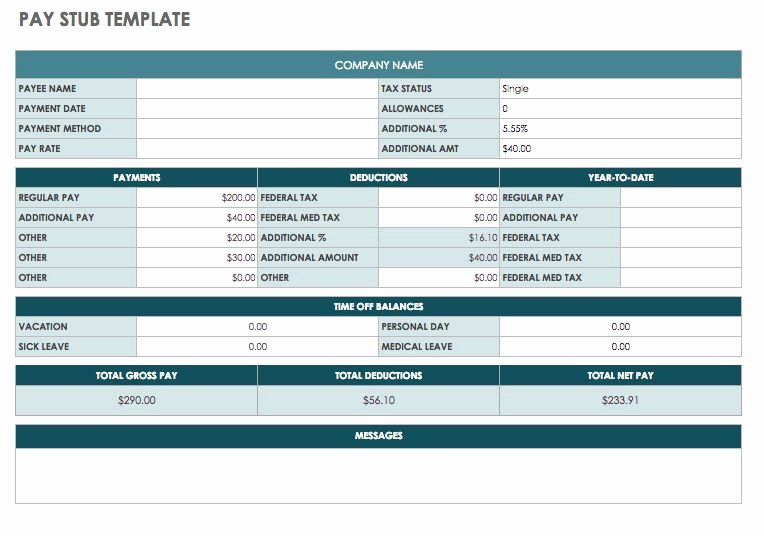 Employee Pay Stub Template Free Best Of Free Pay Stub Templates