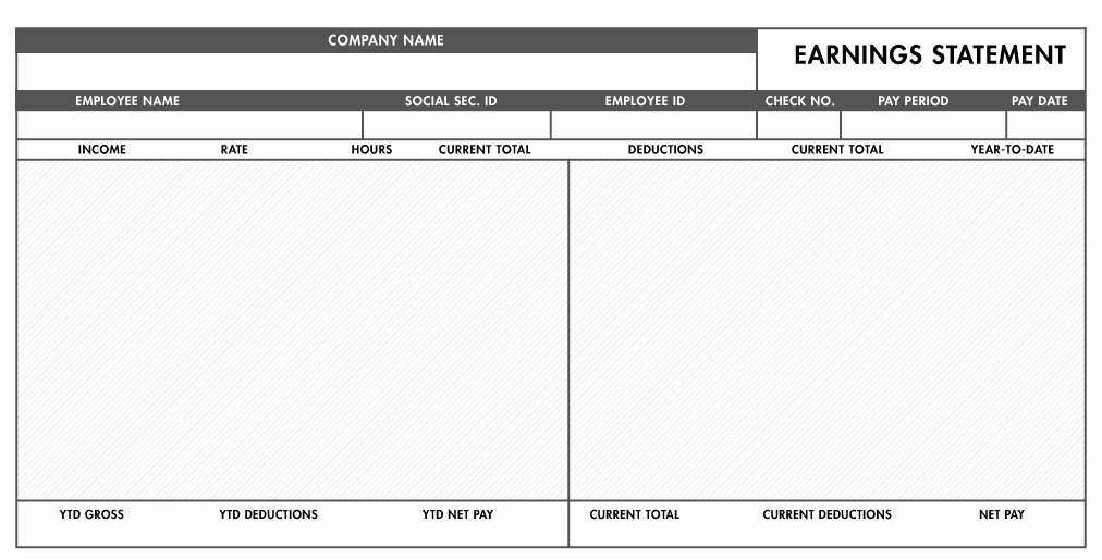 Employee Pay Stub Template Free Luxury Free Basic Paystub Template Excel Download – Paystub