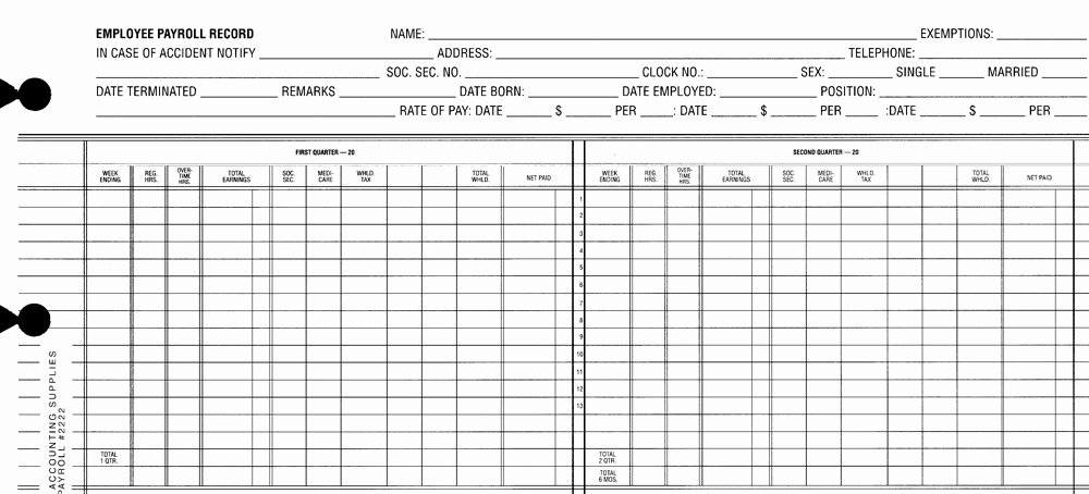 Employee Payroll Ledger Template Inspirational Payroll Sheets Monarch Accounting Supplies Supplying