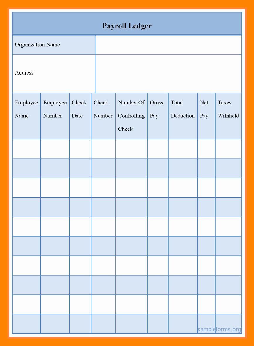 Employee Payroll Ledger Template New 5 Payroll Ledger Template