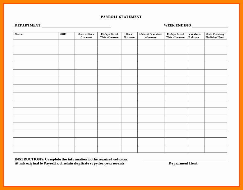 Employee Payroll Ledger Template Unique 8 Payroll Ledger Template