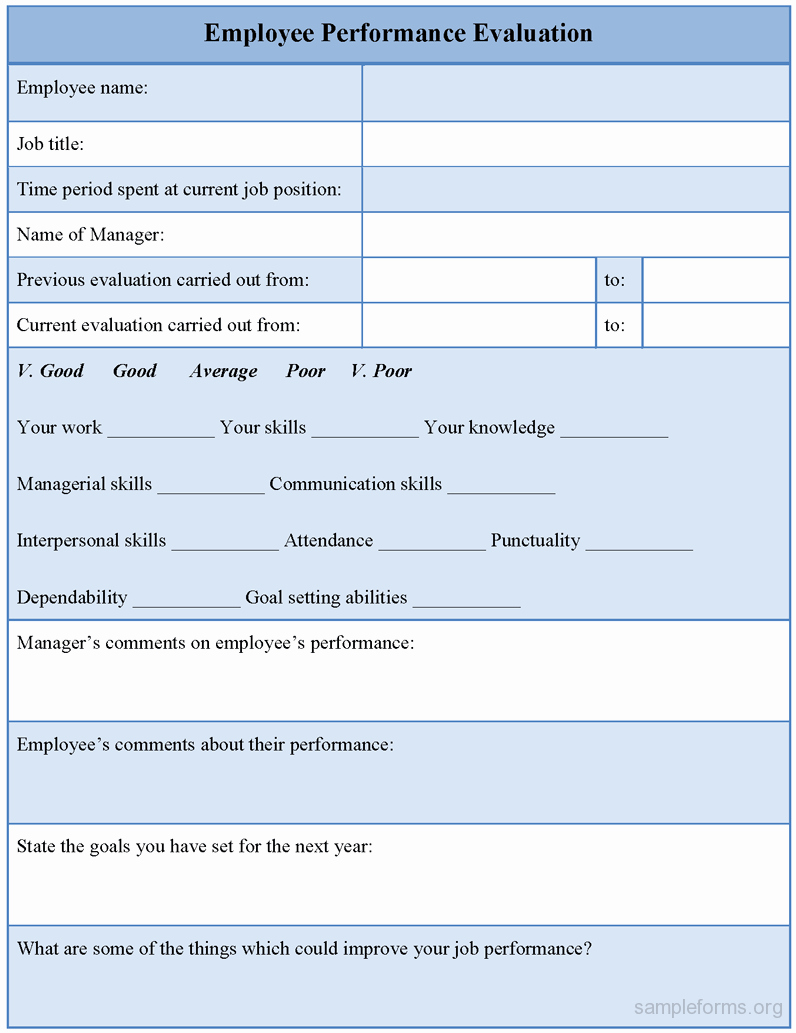 Employee Performance Appraisal form Template Unique Appraisal forms Templates Mughals