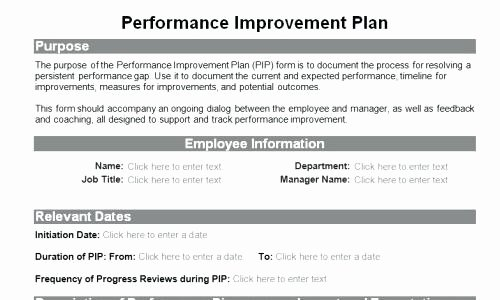 Employee Performance Improvement Plan Template Lovely Sample Process Improvement Plan Template – Azserverfo