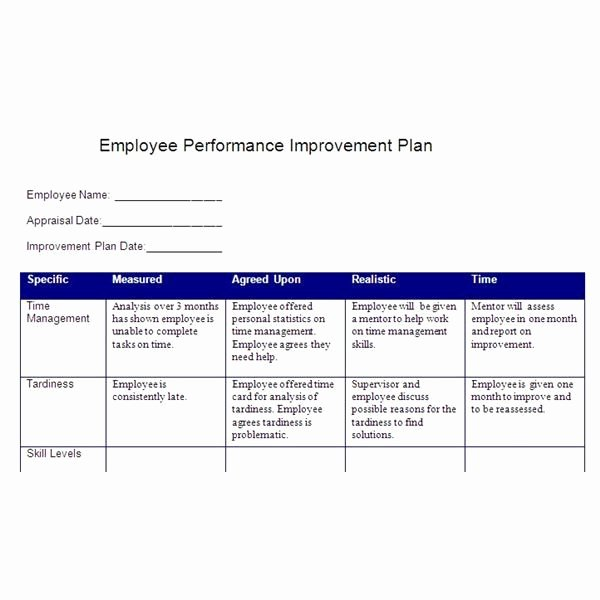 Employee Performance Plan Template New Smart Action Plan Template