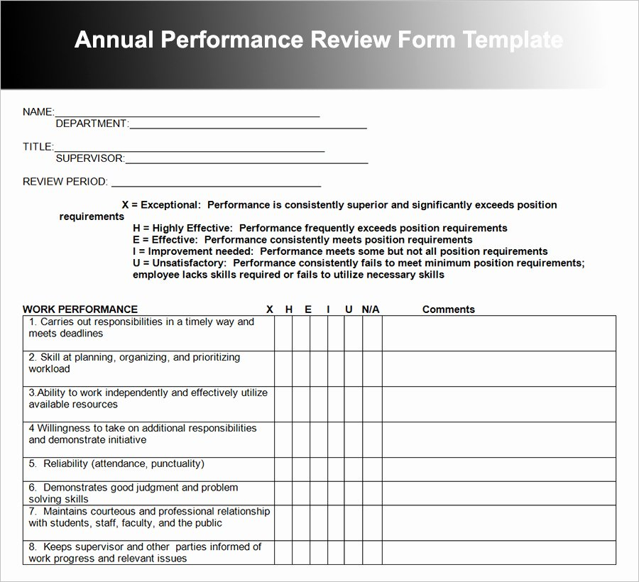 Employee Performance Review Template Excel Elegant 26 Employee Performance Review Templates Free Word Excel
