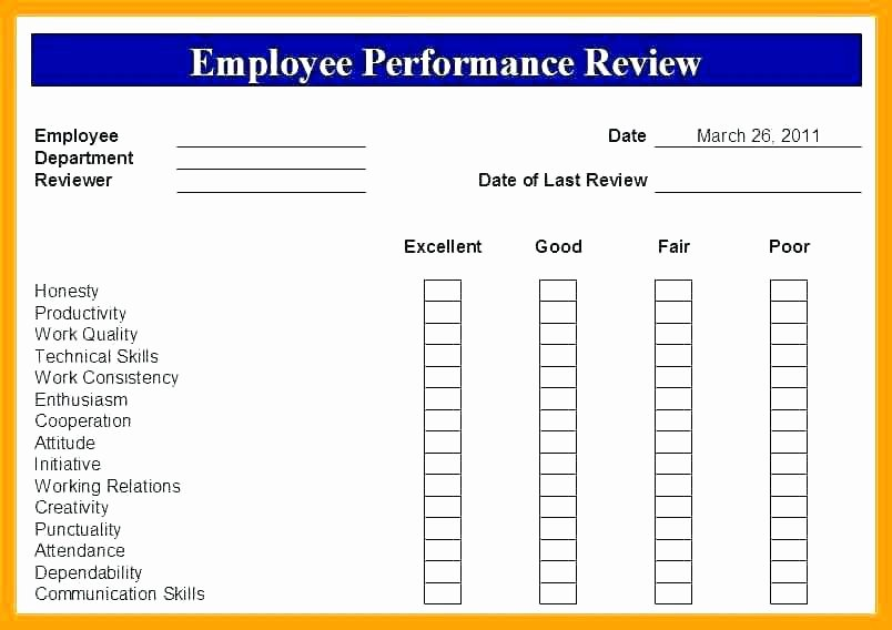 Employee Performance Review Template Pdf Awesome Performance Appraisal Sample Pdf – Threestrands