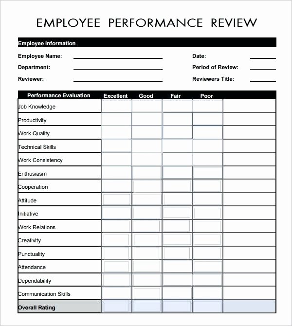 Employee Performance Review Template Pdf Elegant Peer Evaluation form Sample Review Template Best 360