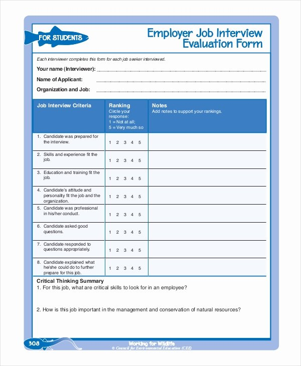 Employee Performance Review Template Pdf Fresh Employee Evaluation form Example 13 Free Word Pdf