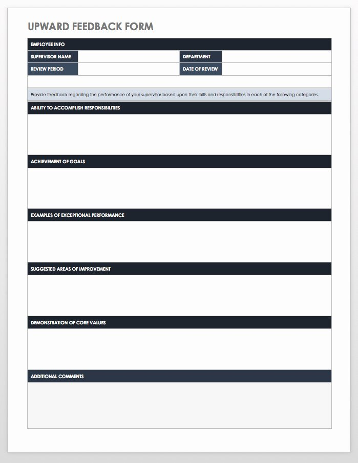 Employee Performance Review Template Word Elegant Free Employee Performance Review Templates Smartsheet