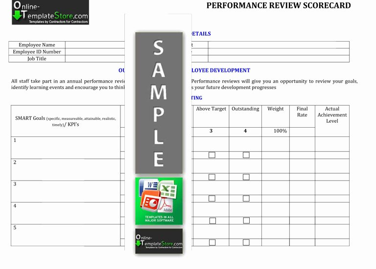 Employee Performance Scorecard Template Beautiful Human Resources Templates