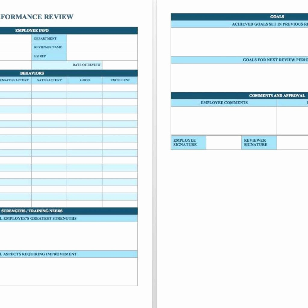 Employee Performance Scorecard Template Excel Beautiful Free Employee Performance Review Templates Smartsheet
