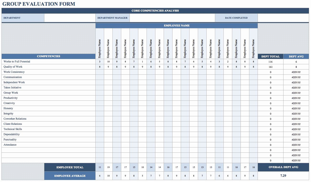 Employee Performance Tracking Template Excel Elegant Free Employee Performance Review Templates Smartsheet