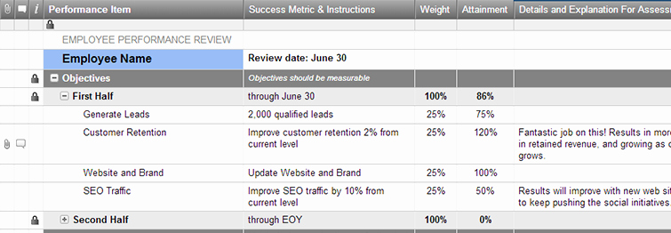 Employee Performance Tracking Template Excel Luxury Employee Objectives and Performance Review