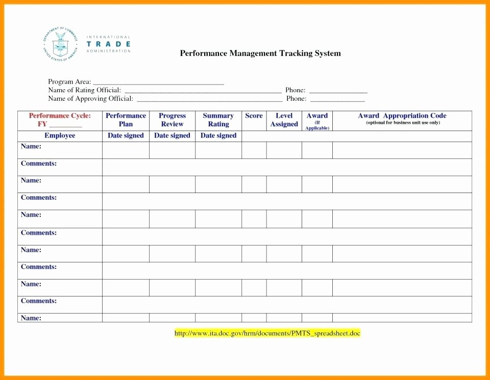 Employee Performance Tracking Template Excel New Performance Tracking Excel Template Employee Performance