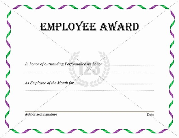 Employee Recognition Award Template Awesome Excellent Employee Award and Certificate Template with