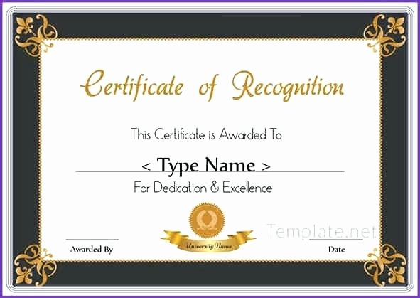 Employee Recognition Award Template Awesome Recognition Certificate Wording Examples Service