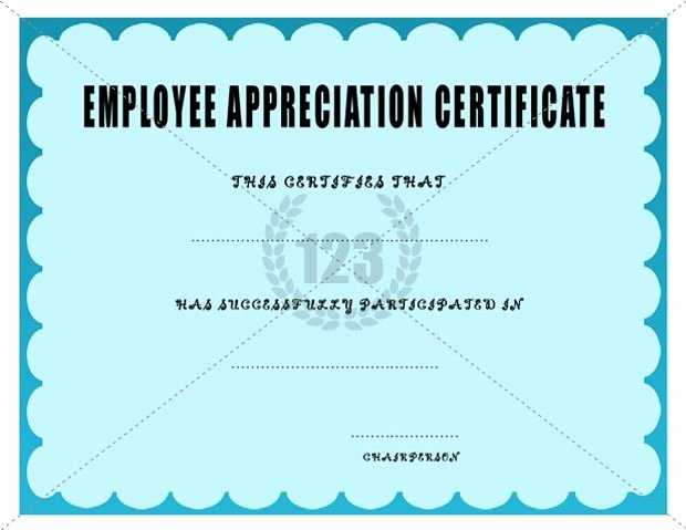 Employee Recognition Award Template Beautiful Employee Appreciation Certificate Template Certificate
