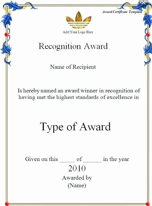 Employee Recognition Award Template Beautiful Recognition Certificate Wording Examples Service