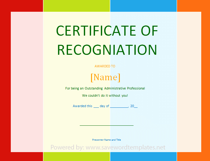 Employee Recognition Award Template Best Of Best S Of Certificate Recognition Template