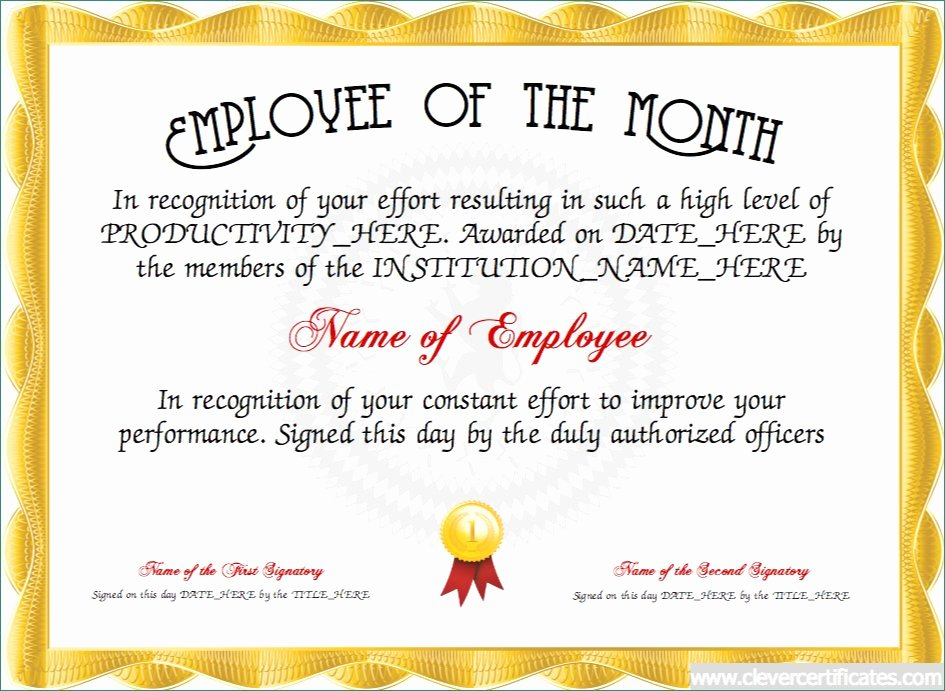Employee Recognition Award Template Best Of Excellent Employee Recognition Awards Templates