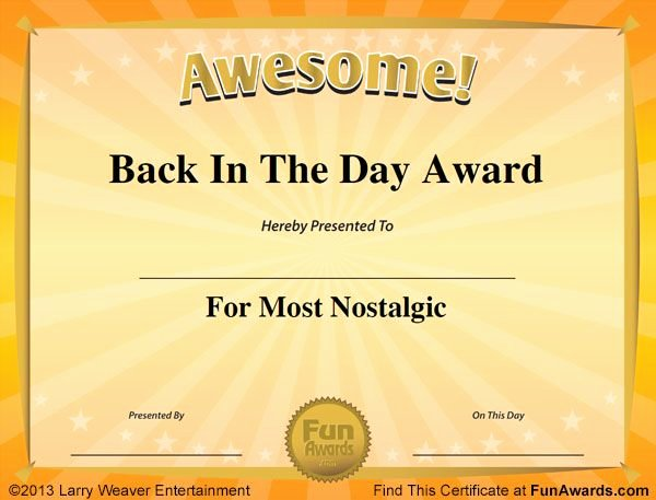 Employee Recognition Award Template Best Of Fun Certificates … Work Awards