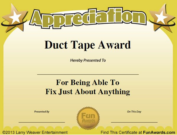 Employee Recognition Award Template Best Of Funny Employee Awards™ 101 Funny Awards for Employees