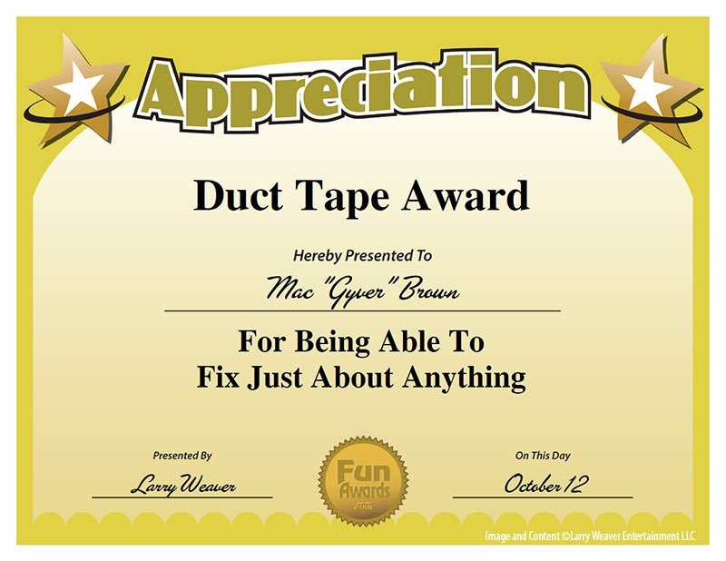 Employee Recognition Award Template Elegant 10 Best Of Humorous Awards Ideas Funny Employee