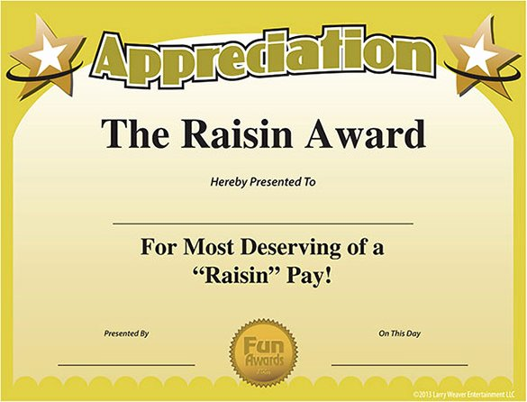 Employee Recognition Award Template Elegant 11 Funny Certificate Templates Free Word Pdf Documents