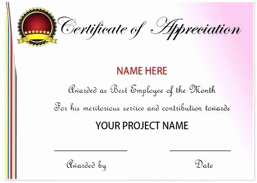 Employee Recognition Award Template Elegant Employee Recognition Certificates Free Download Printable