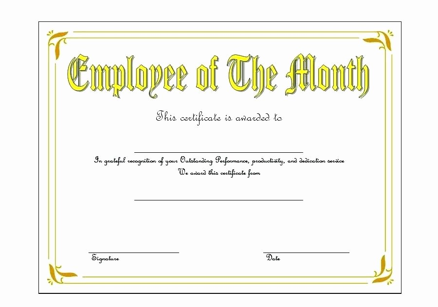 Employee Recognition Award Template Elegant Teacher Appreciation Certificate Employee Recognition