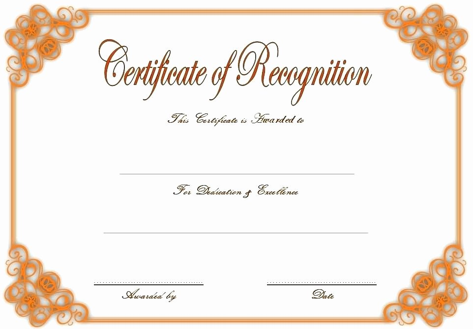 Employee Recognition Award Template Fresh Certificates Recognition Templates Printable