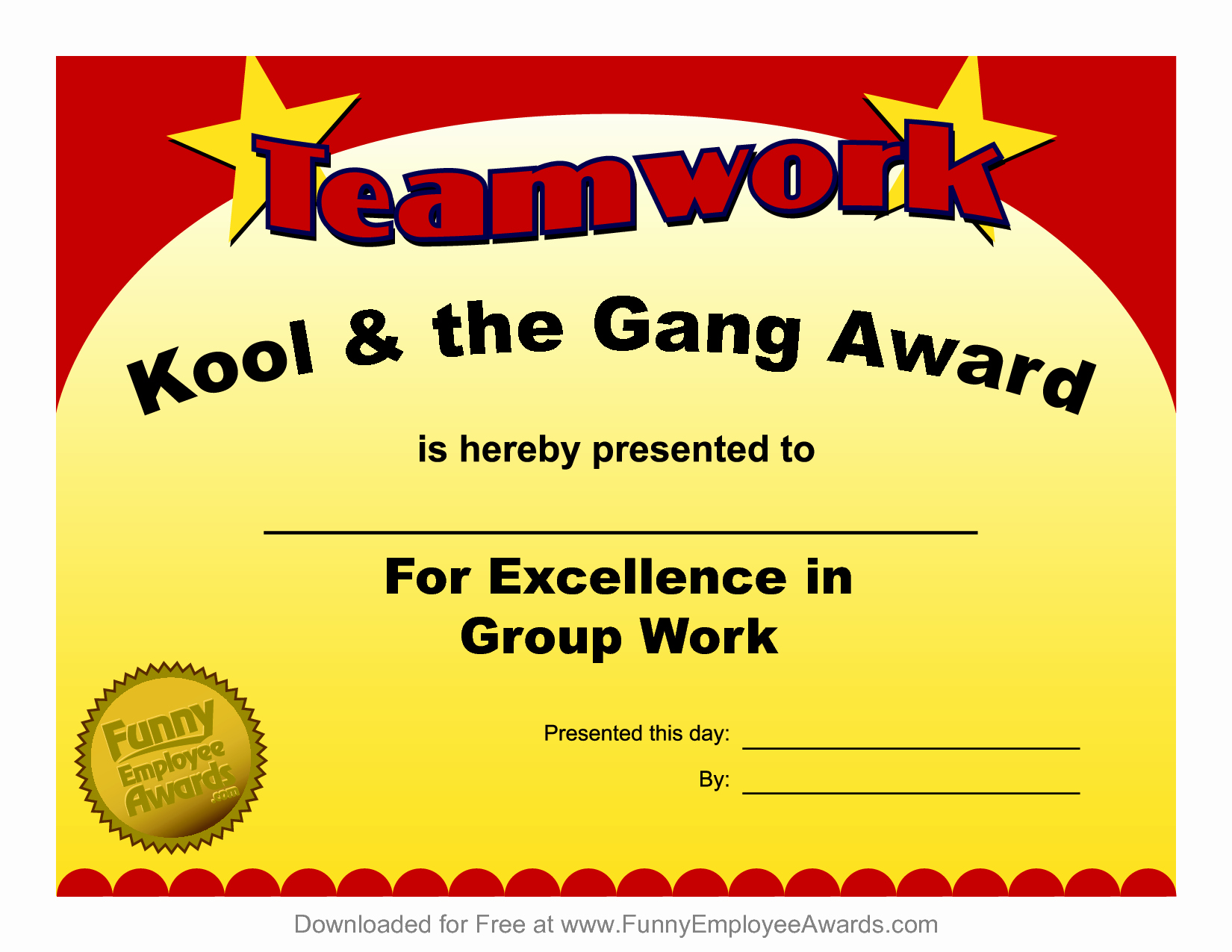 Employee Recognition Award Template Fresh Fun Award Templatefree Employee Award Certificate