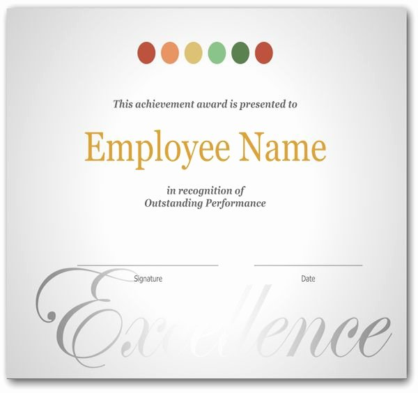 Employee Recognition Award Template Inspirational Best 25 Sample Certificate Of Recognition Ideas On